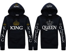 King & Queen Hoodies Cute Couple matching pullover Valentines anniversary gift