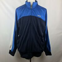 Nautica Competition Mens Blue White Navy Warm Up Track Jacket, Size XXL