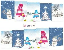 Nail Art Stickers Decals Transfers Christmas Snowmen Snow Winterval (BN222)