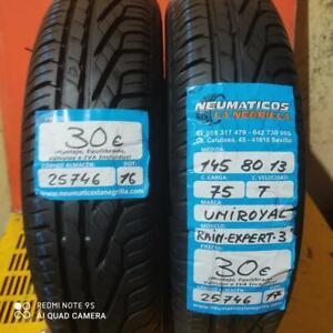 2 x 145 80 R13 75T 6.2mm+6.1mm DOT 16/17 Uniroyal Rain Expert-3 Ref. 25746