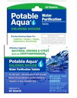 Safe & Effective Water Purifying Tablets for Survival / Travel & More (30ct)