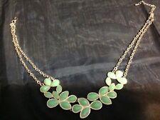 Gold Choker Necklace Beautiful Seafoam Green