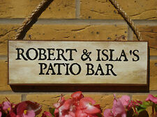 PERSONALISED WEATHERPROOF BAR SIGN PATIO SIGN DECKING AREA SIGN DRINKS AREA ALES