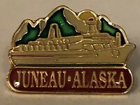 Juneau Alaska Cruise Ship Boat Lapel Hat Pin Pinback ~ Gastineau Channel ~ AK