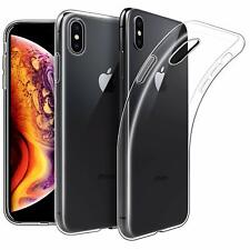 For iPhone XS Case Clear Gel Cover Glass Screen Protector & Stylus Pen
