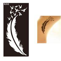 Henna Tattoo Schablone Airbrush Stencil Feder Vögel