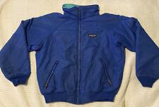 Children's/ Kid's Made in USA Deep Blue/ Aqua Fleece Size12 Patagonia Jacket