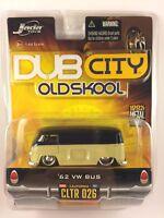 Jada Dub City OLD SKOOL 62 1962 Volkswagen VW Bus Tan & Black Diecast 1/64 Scale