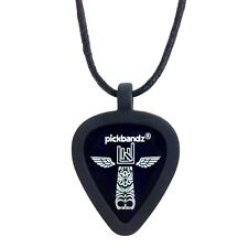 Just Pop In Your Pick!!! GUITAR PICK Necklace by Pickbandz PICK HOLDER in Black