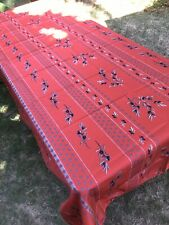 "NEW French Imported Provence Red 138""x 60"" Rectangular Polyester Tablecloth"