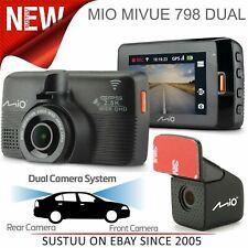 Mio MiVue 798 Dual Car GPS Dash Camera¦2.5K QHD 1600p Recording¦Wi-Fi¦Night Mode