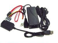 CAVO ADATTATORE SATA TO IDE USB HARD DISK DRIVE 2.5 3.5 CONVERTITORE 220V PC HD