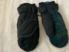Vintage 80s PROMARK Wells Lamont Nylon & Suede Leather Winter Ski Gloves Men's S