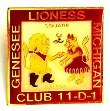 Pin Spilla Lions International Lioness Club 11 - D - 1 Genesee Michigan Square D