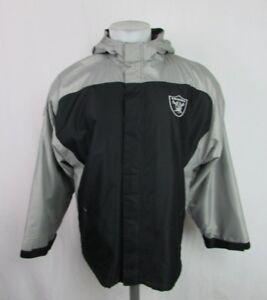 Oakland Raiders Black Full Zip Reebok VTG Midweight Jacket Men's Large NFL