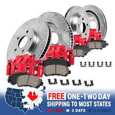 Front+Rear Brake Calipers Rotors Pads For Yukon Tahoe Escalade Silverado