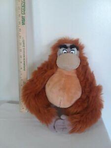 Walt Disney Jungle Book King Louie 15 Inch Monkey Plush Ape W/ Fasten Hands
