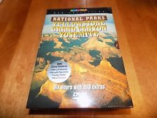 NATIONAL PARKS YELLOWSTONE GRAND CANYON YOSEMITE PBS TV 3-DISC DVD SET NEW
