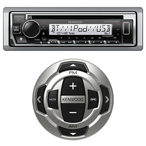 Kenwood KMR-D378BT Marine Boat Radio CD Player USB Receiver with Wired Remote