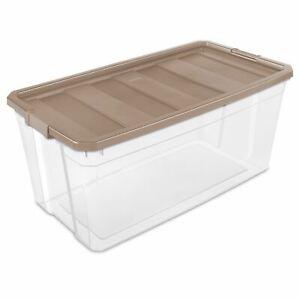 Sterilite, 200 Qt./189 L Stacker Box, Taupe Splash