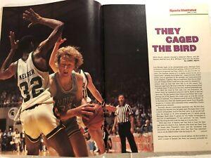 1979 Sports Illustrated MICHIGAN State Spartans MAGIC JOHNSON vs LARRY BIRD NCAA