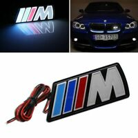 ///M Motorsport M power Car Front Hood Grille Emblem LED Light For BMW Universal