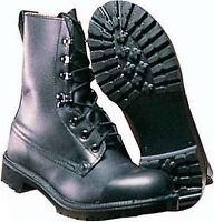 Swiss Army Para Boots NEW Black Leather Combat Assault Original ...