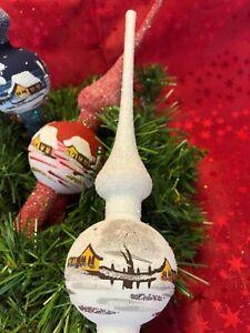 Christbaum-Spitze aus Glas Weihnachtsbaum-Spitze Topper Krone Tannenbaum Lauscha