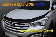 Acrylic Bonnet Guard Garnish Deflector 3Pcs D-649 for Hyundai Santa Fe 2013~2016