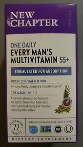 New Chapter One Daily Every Man's Multivitamin 55+. 72 Veg Tablets. EXP 1/2023