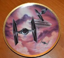 1995 Tie Fighters Star Wars Space Vehicles Plate Collection 3698E Hamilton Coll.