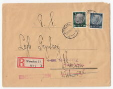 Judaica Poland 1940 Warsaw Bank to Leyb Grynberg RETURN He went to Russia! cover