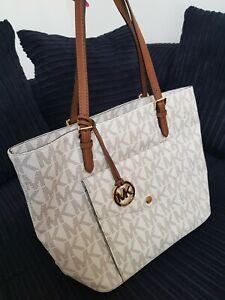 Genuine Vanilla Michael Kors Signature Bag very nice condition