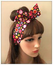 Multicoloured Headband Hairband Hair Band Hippy Boho Flower Print Fabric Vintage