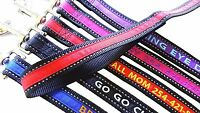 Reflective Personalized Embroidered Dog Leash Extra Durable Extra Tough