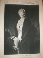 Queen Consort Mary by David Jagger 1932 old print