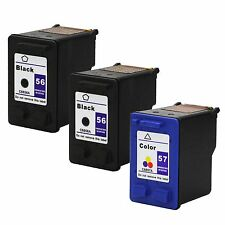 3PKs HP 56 57 Ink Cartridge HP56 HP57 C6656AN C6657AN For PSC2420 2405 2550