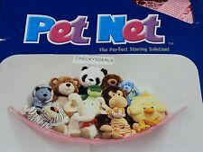 Deluxe Pet Net - Stuffed Animal & Toy Organizer - Hammock PINK net FREE DONUT