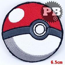 POKEMON POKEBALL Embroidered Iron-On Patch cartoon game logo badge