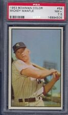 1953 BOWMAN COLOR NO. 59 MICKEY MANTLE PSA 7.5 NEAR MINT PLUS WELL CENTERED
