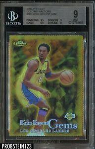 2000-01 Topps Finest Gold Refractor Kobe Bryant Lakers HOF /100 BGS 9 MINT