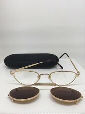 Vintage Matsuda 2877 Eyeglasses PG Gold With Details & Sun Clip 47-20mm Japan