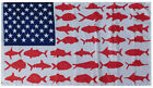 3x5 USA Fish Flag Dolphin Tuna Shark American Flag Banner
