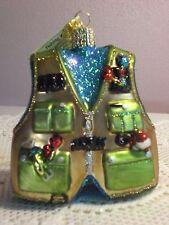 "Old World ""Fishing Vest"" Glass Ornament"