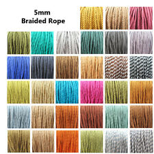 5mm BARLEY TWIST CORD BRAIDED ROPE POLYESTER ROPE CRAFT STRING 33 COLOURS