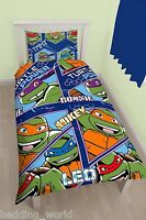 SINGLE BED DIMENSION TEENAGE MUTANT NINJA TURTLES DUVET COVER SET BLUE GREEN