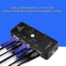 Manuale Switch KVM Switcher VGA 4 Porte Adattatore Per Condivisione Video USB2.0