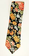 TANGO BY MAX RAAB FLORAL 100% COTTON NECKTIE TIE MADE IN USA