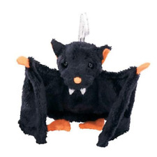 New! Ty Beanie Babies Halloweenie Beanies Bat-e Black Bat Halloween Plush Gift