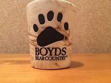 Boyds Bear Country Gettysburg Shot Glass Paw Print Brown Cream Beige Boyd's